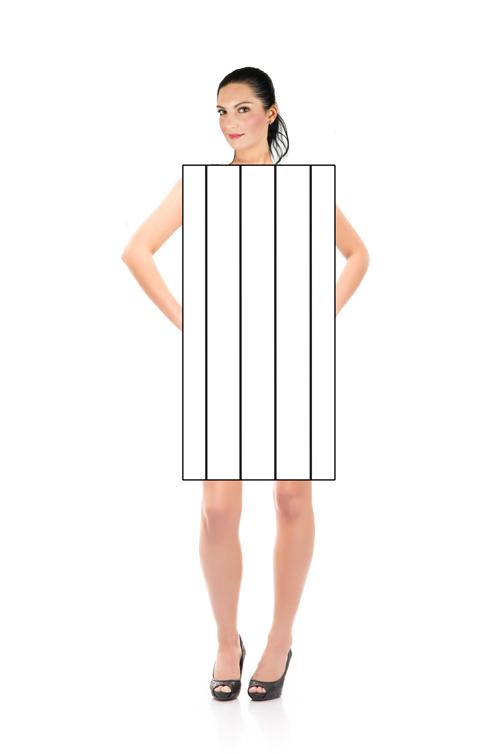 Vertikale striper med avstand