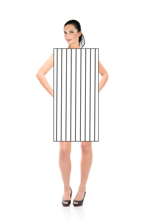 Vertikale tette striper