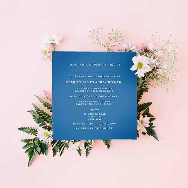 JB Wedding Invite