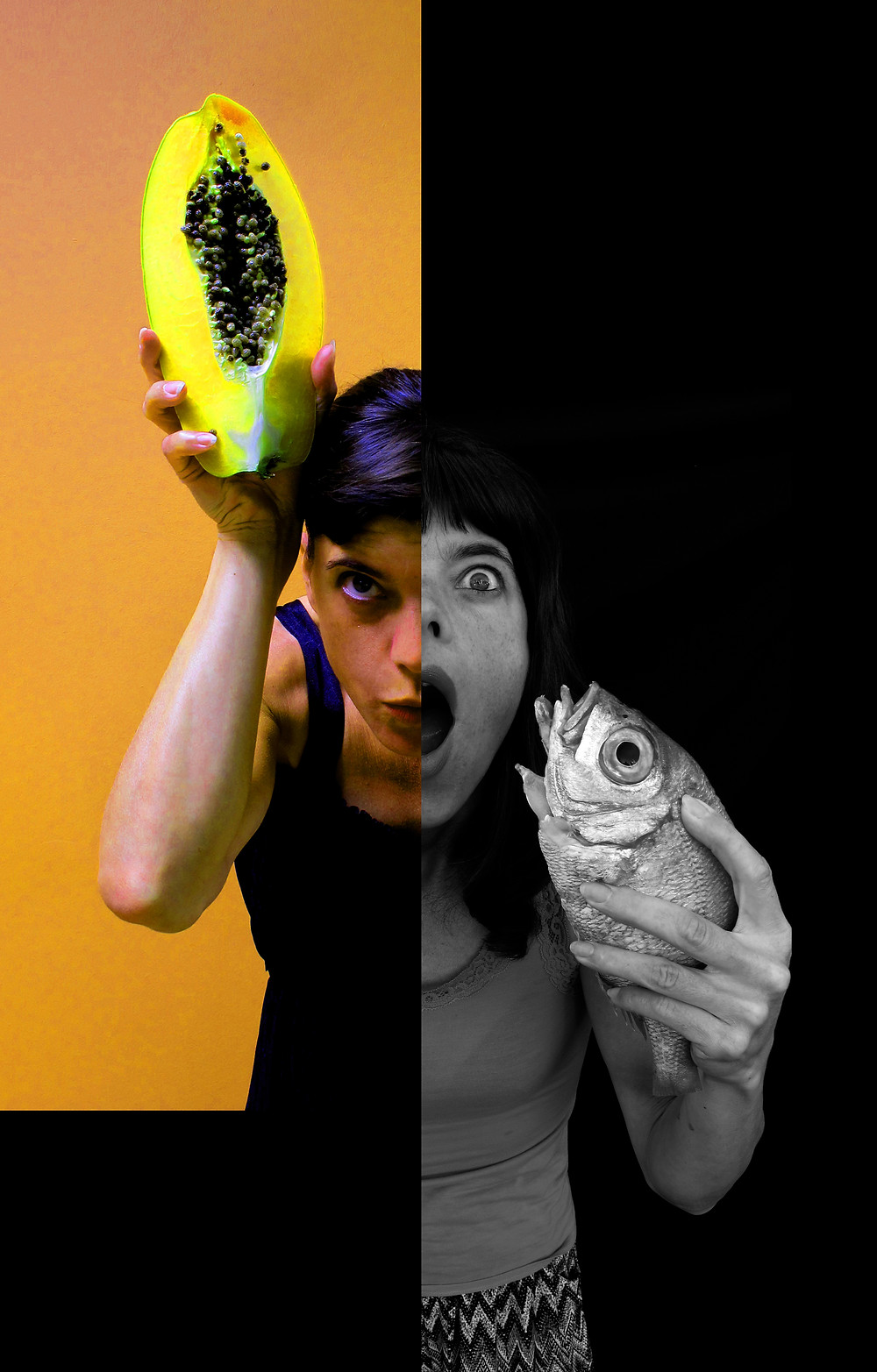 Selfie 2017 Papaya versus Boca negra fish