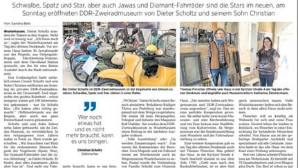 Eröffnung DDR Zweirad Museum