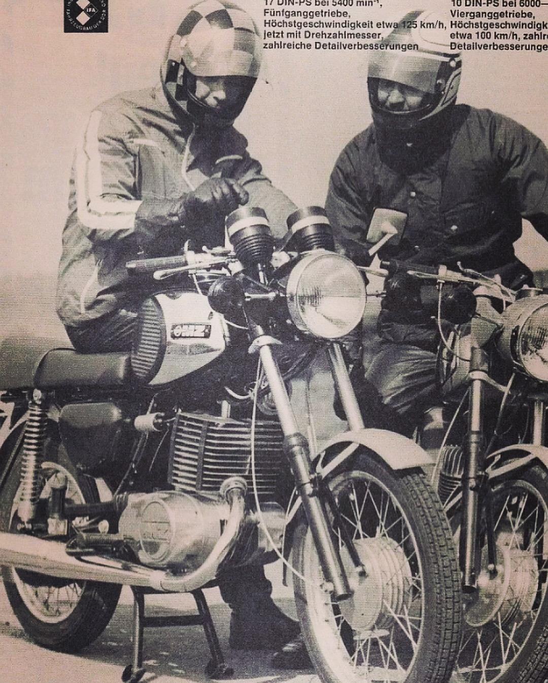 MZ Motorrad Werbung