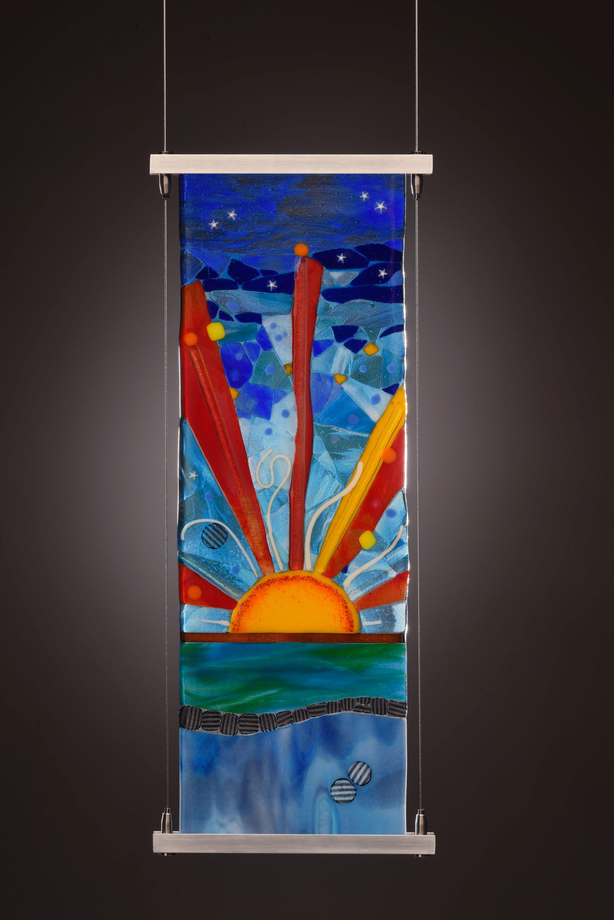 "6""x18"" Hanging glass panel"