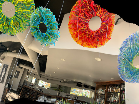 See the Oswald Restaurant Glass Lightshow in Downtown Santa Cruz!