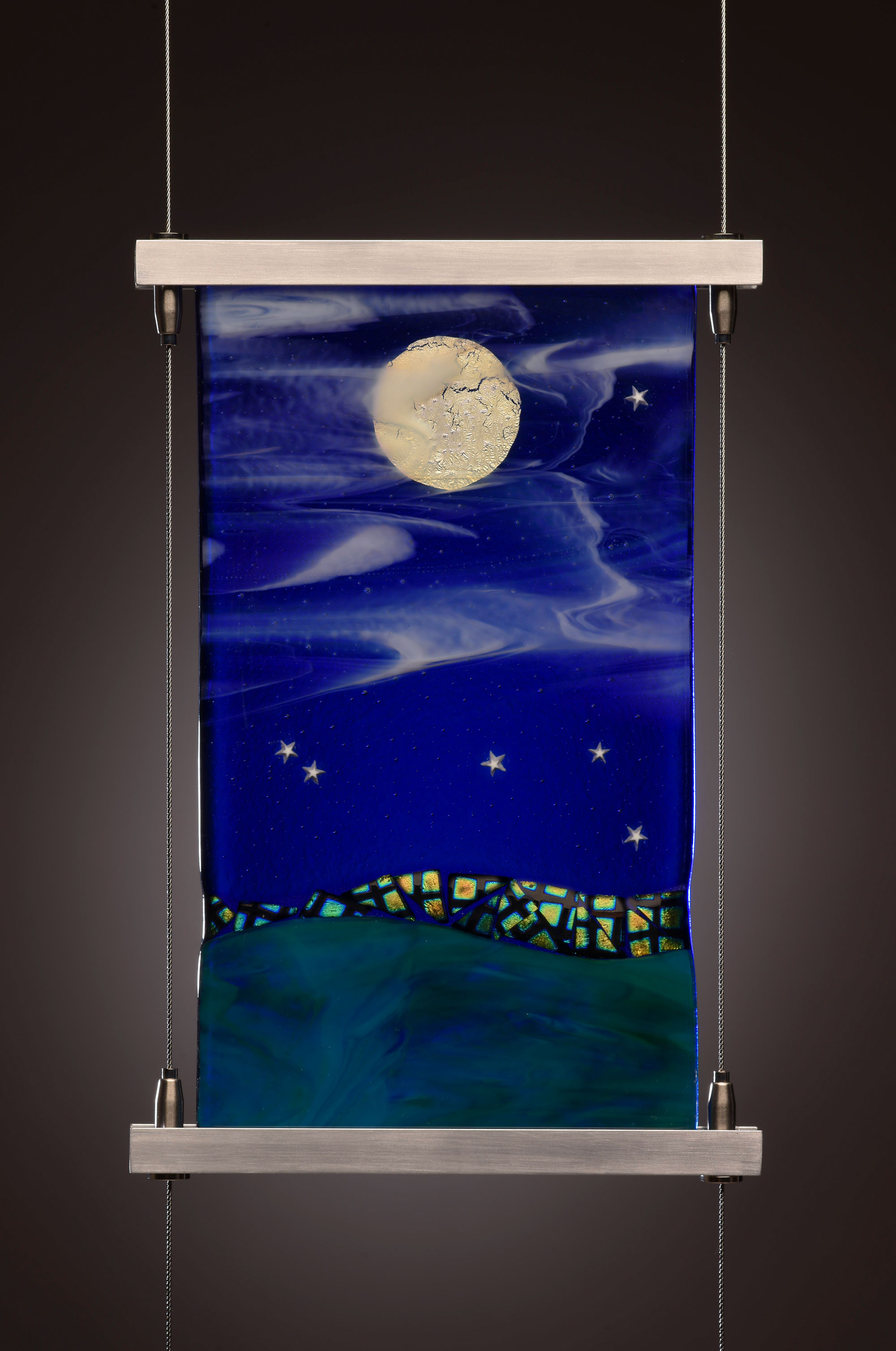 "6""x10"" Hanging glass panel"