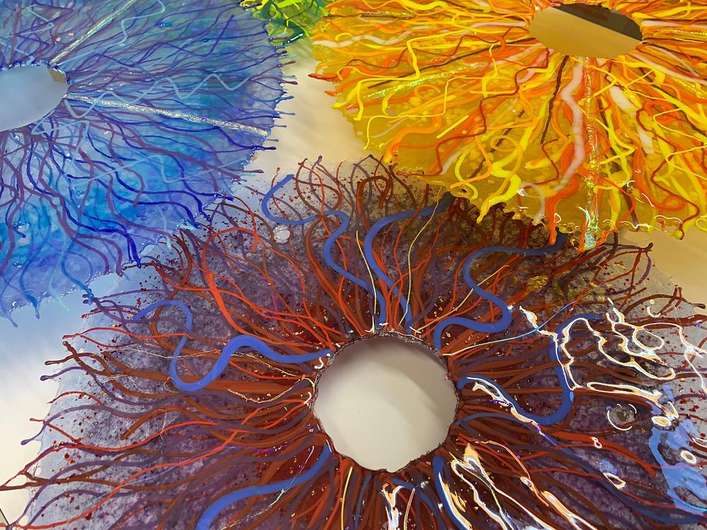 Randie Silverstein's kilnworked glass discs