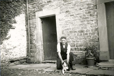'Post Willy' Cockburn, at his cottage in Aysgarth, courtesy of DCM, Hawes