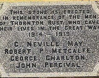 Thornton Rust War Memorial Plaque