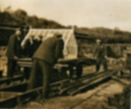 Platelayers with trolley at Aysgarth, 19