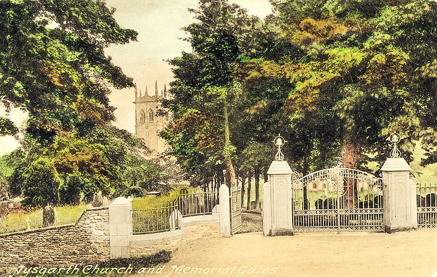 Aysgarth Parish Church Memorial Gates, erected 1923