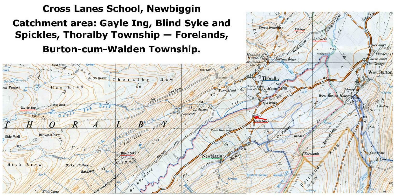 Cross Lanes School - catchment area