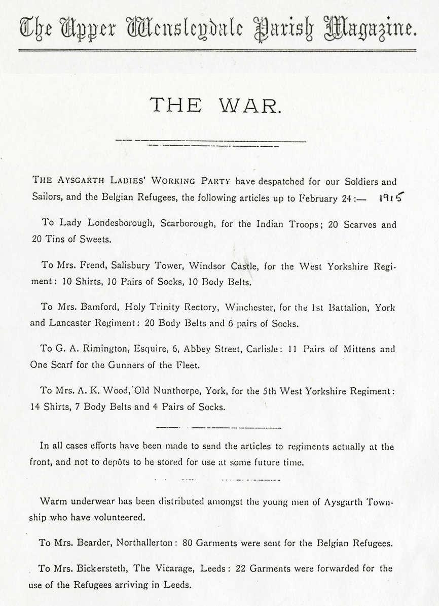 Parish Magazine, 1915