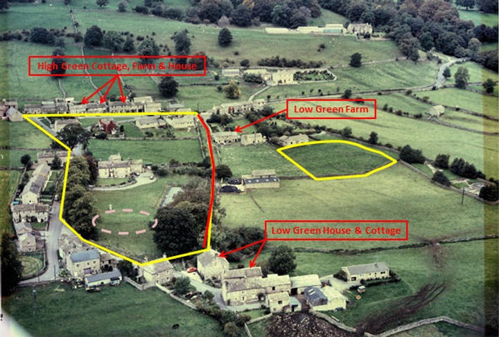 Thoralby Manor Houses and the Village Green