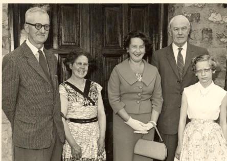 Mrs Anne High - opening village hall fet