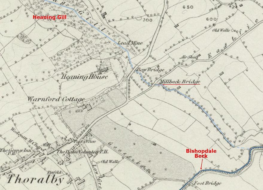 1856 OS Millbeck Bridge, Heaning, Thoral