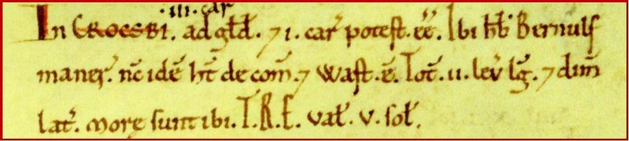 Croxby, Bishopdale Domesday image