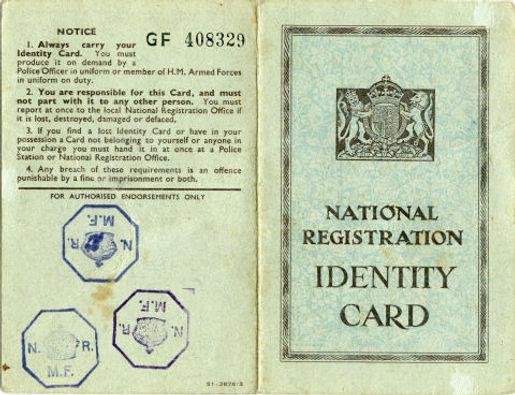 Martha E. Snaith 1939 ID Card A