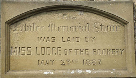 Thoralby Reading Room Memorial Stone, 1887