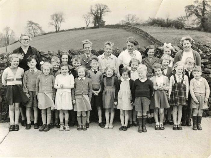 Cross Lanes pupils and staff, 1957