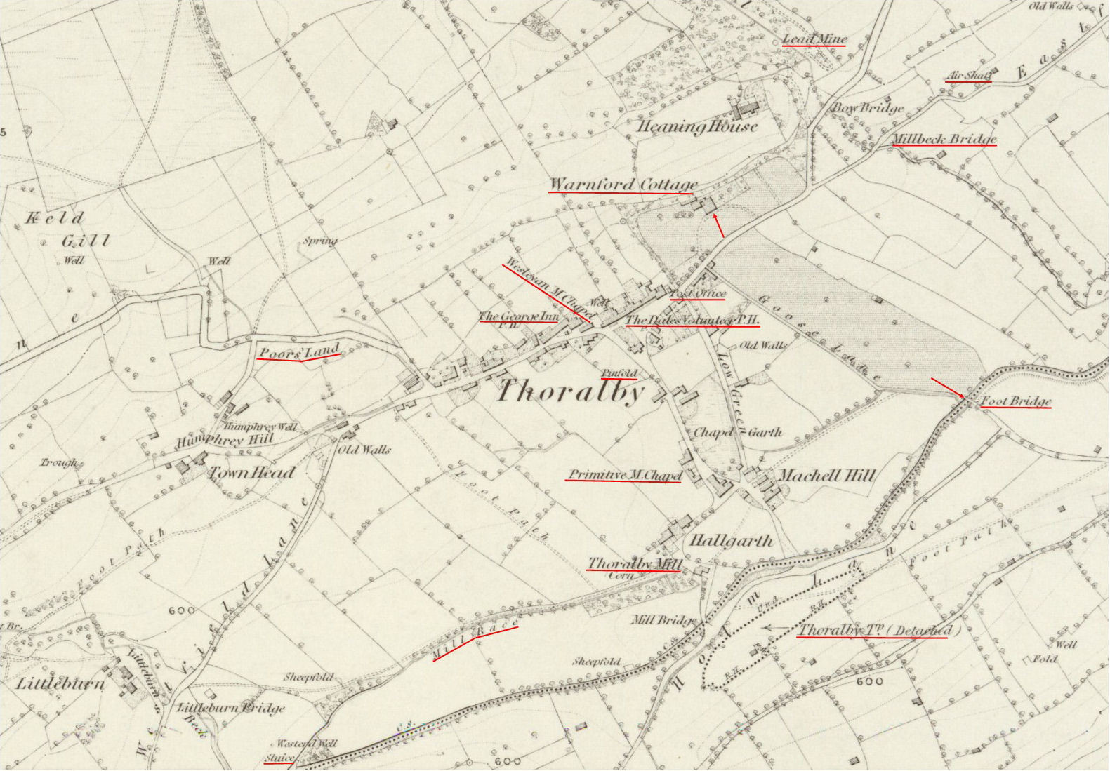 Thoralby Village 1856