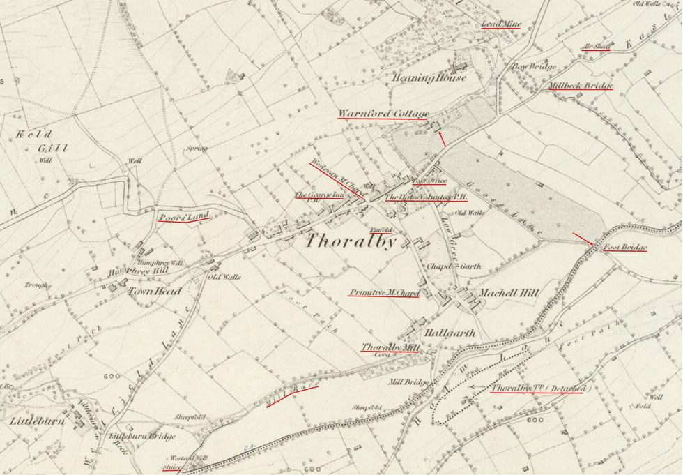 Thoralby Village 1856