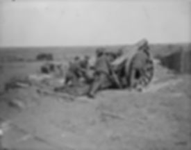 A 6-inch 26 cwt Howitzer in action, East