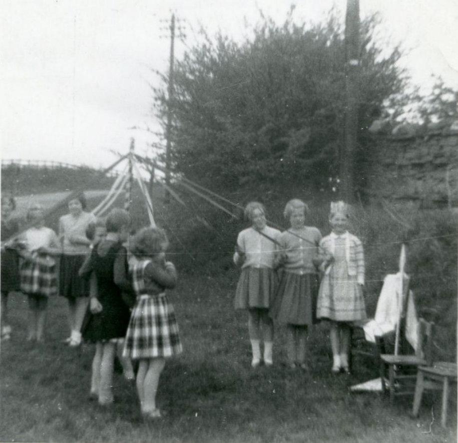 May pole dancing, Cross Lanes pupils, 1962
