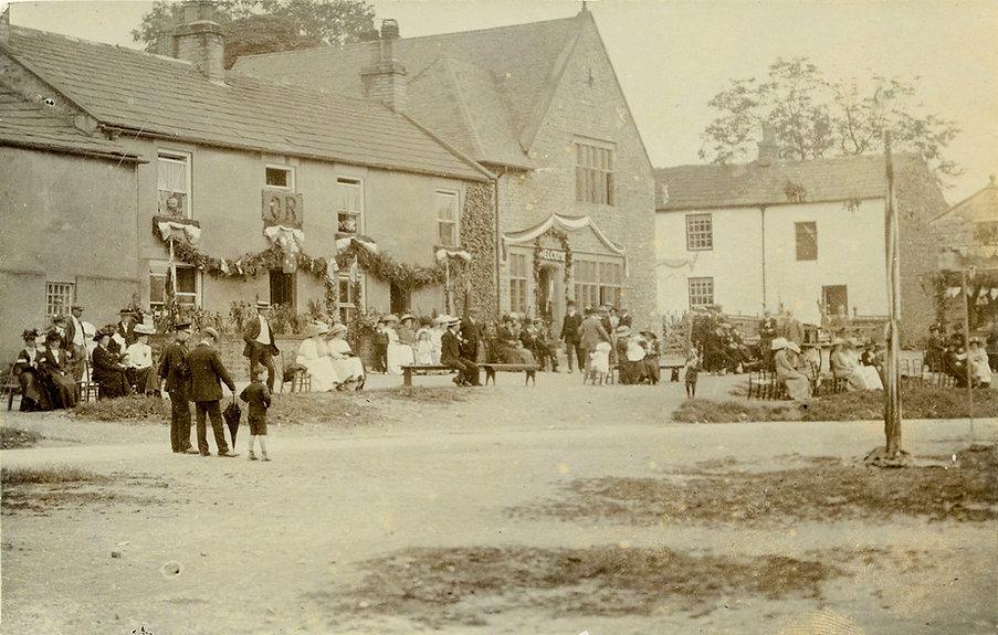 Aysgarth village celebrating the Coronation of George V in 1911