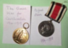 Alfred Plews WW1 Medals