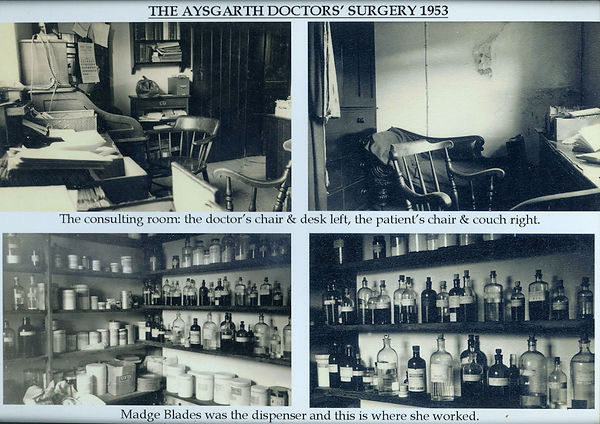 The Aysgarth Doctors' Surgery and Dispensary, 1953