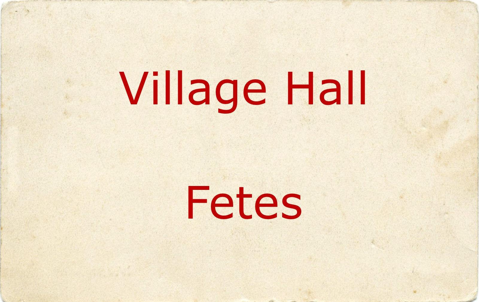 Village Hall Fetes