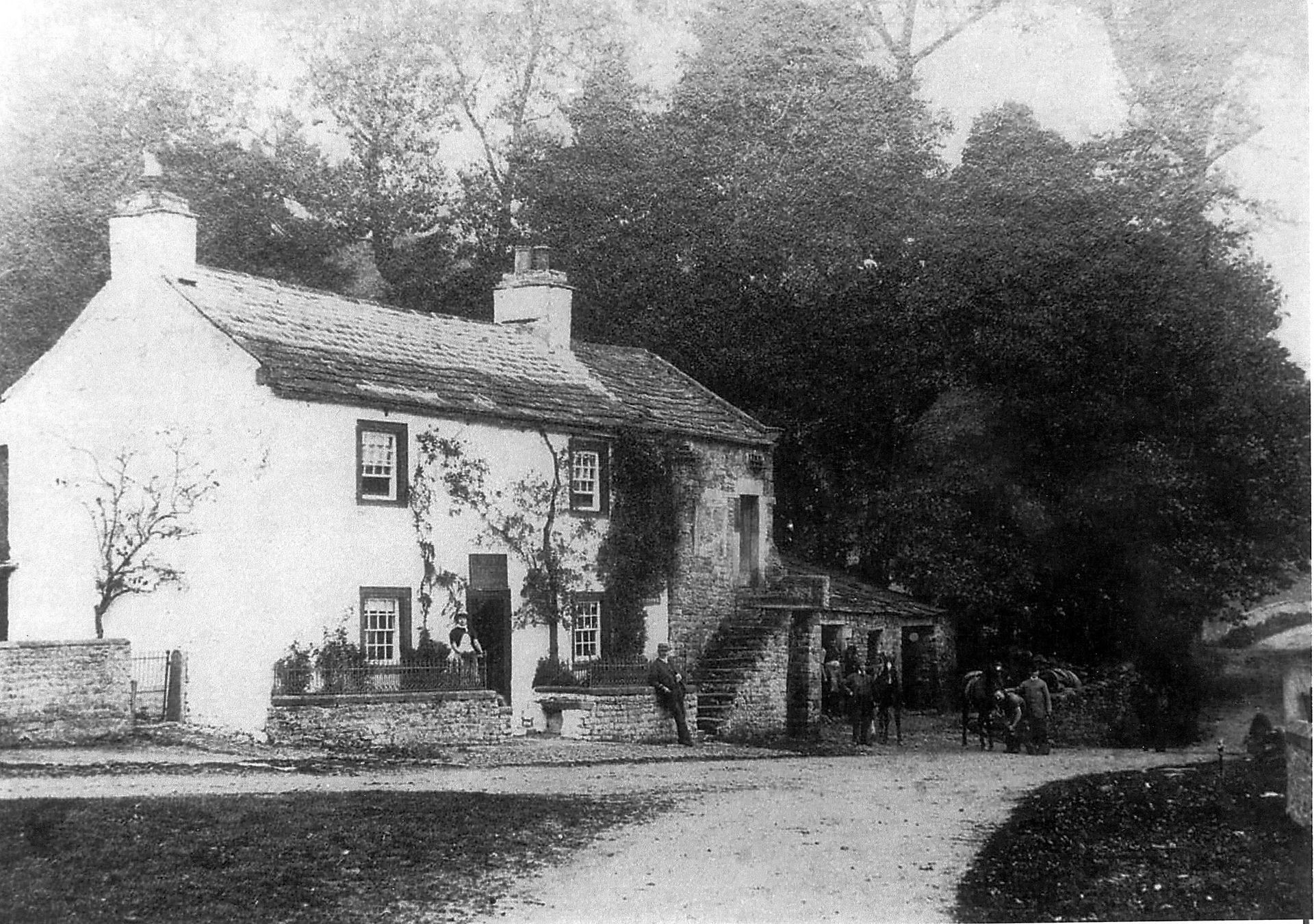 Thoralby shop and stables, pre 1887, courtesy of G.V. & A. Sadler.