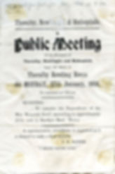 Poster advertising Public Meeting: residents of Thoralby, Newbiggin & Bishopdale, 27 Jan., 1936 ​