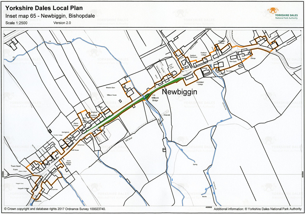 Newbiggin village map, 2017