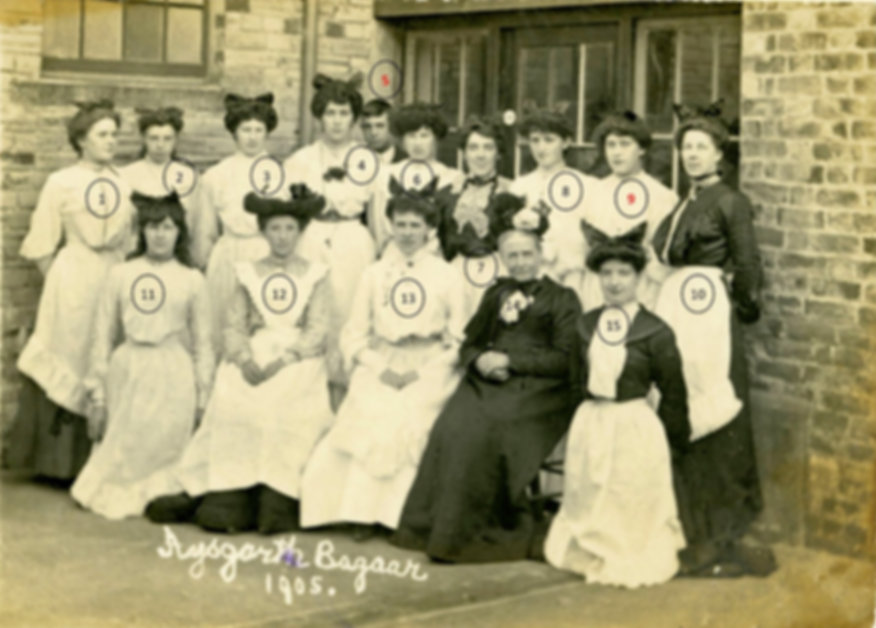 Nurses at Aysgarth Bazaar, 1905 3