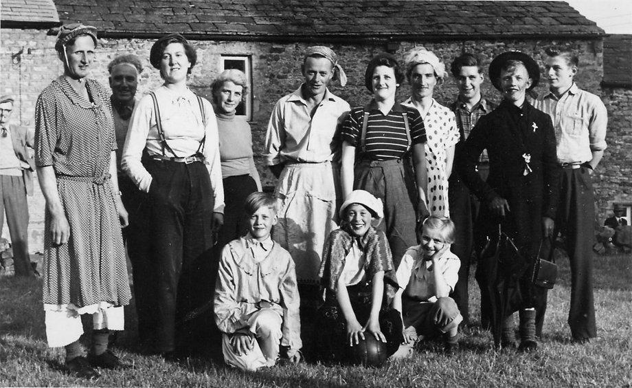 Thoralby Village Hall: Comic football match, men v. women, 1956