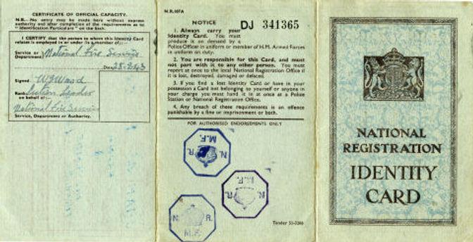 Frank Snaith 1939 ID Card A