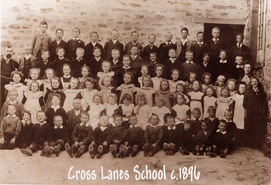 Cross Lanes School, pupils and staff c.1896