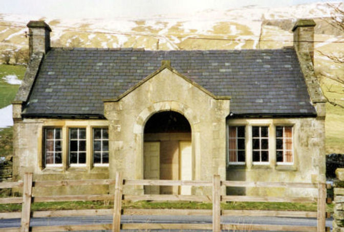 Bishopdale School and Church, 1988. Courtesy of Ann Holubecki.