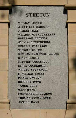 Private Albert Bell's name on the memorial, c. of CPGW