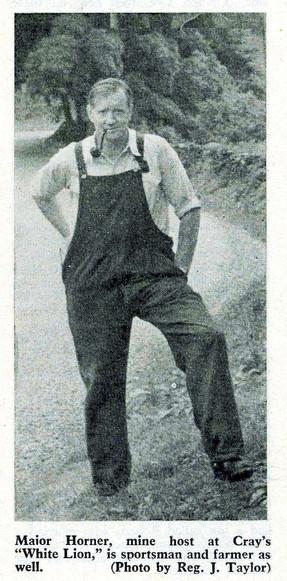 Major Horner, landlord and farmer White Lion, Cray 1957