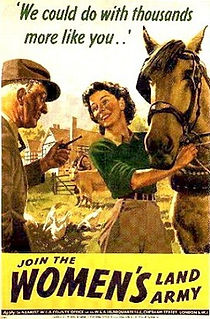 Women's Land Army Recruting Poster