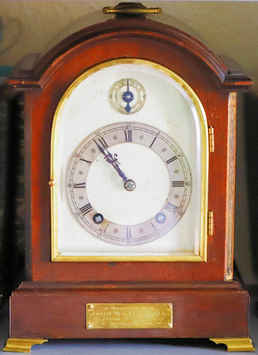 Clock presented to John William Hill, 19