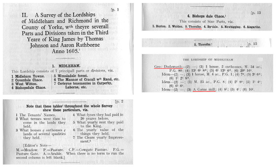 1605 Survey of Lorship of Middleham - Th