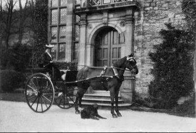 The Rookery front door, coachman waiting, courtesy of Graham Bell.
