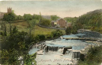 Aysgarth Middle Falls, Yore Mills & Aysgarth Church