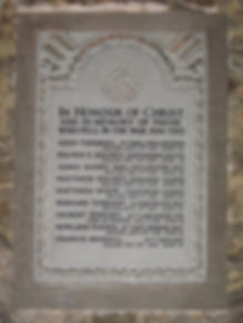 St Michael's Church: memorial tablet, honouring, Matthias Dixon c. of CPGW