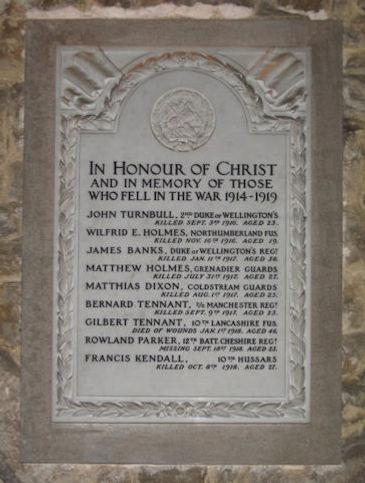 St Michael's Church: memorial tablet, honouring, Matthias Dixonc.of CPGW