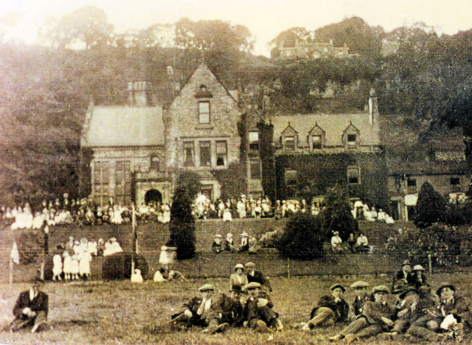 Peace celebrations at the Rookery 1919. Courtesy of Ann Holubecki.