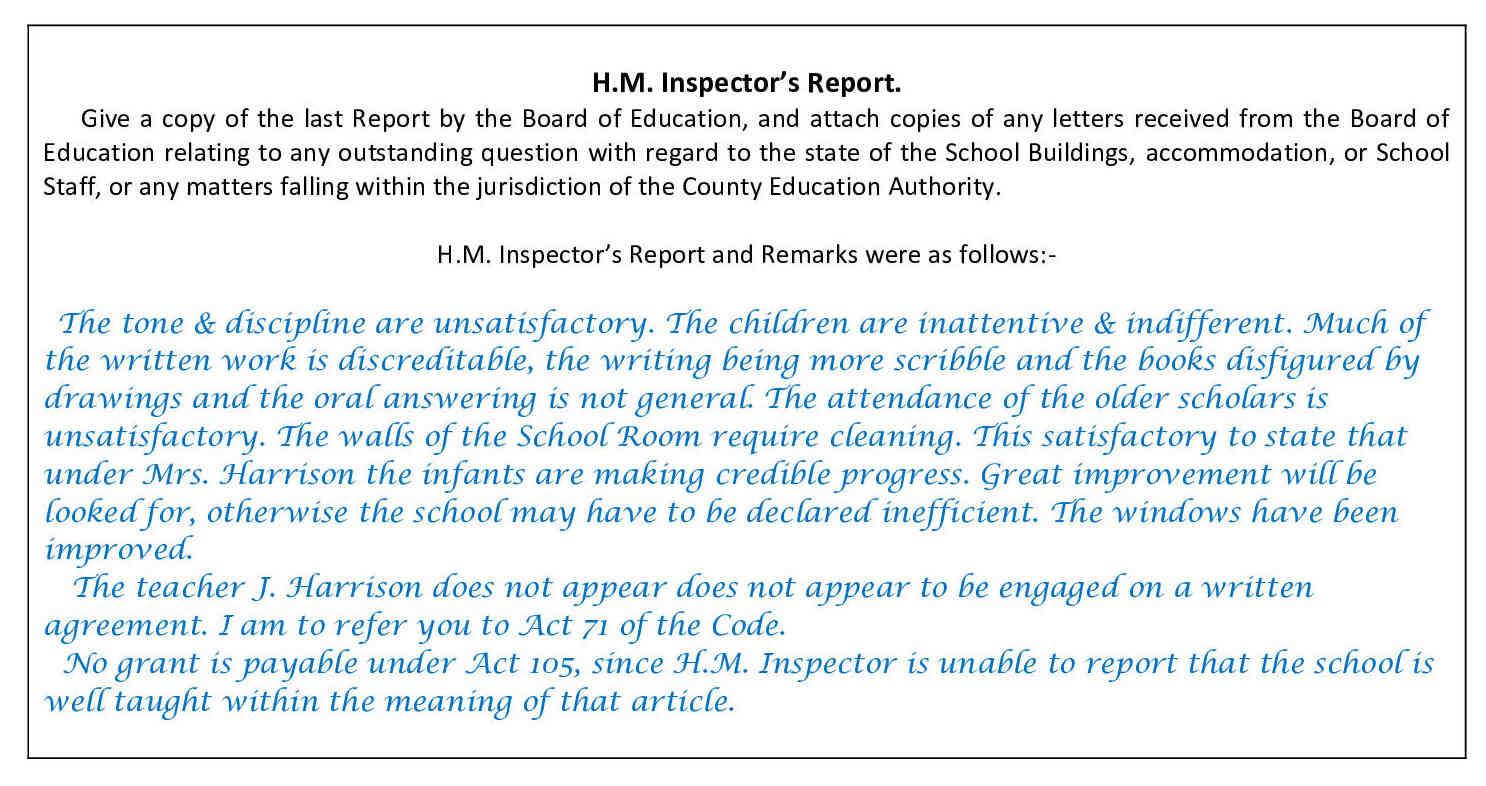 H.M.I. Report, 1902
